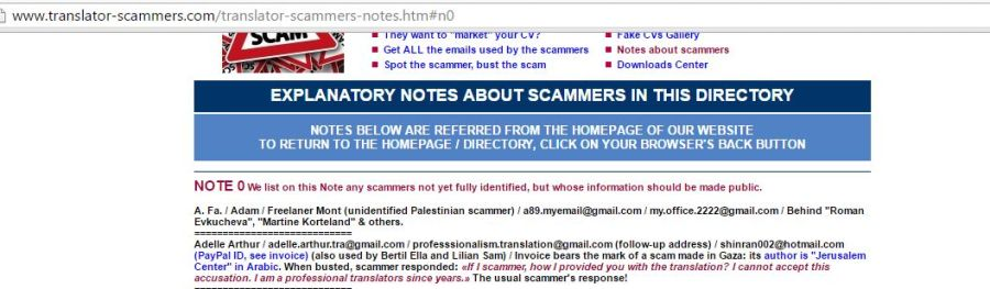 Translators-Scammers Exposed – Exposing a site that intimidates and